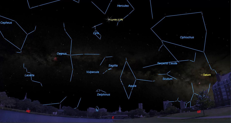 Метеорный поток Лирид можно будет увидеть до 26 апреля в ночном небе