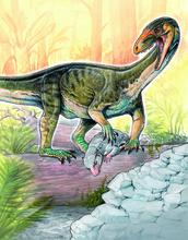 окаменелые останки предка динозавров